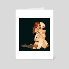Minettes - Art Card by Sarah Dvojack