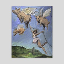 When Pigs Fly - Canvas by Jana  McCullough