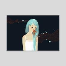 midnight  - Canvas by Van Tran