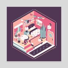 Lumi's House - Canvas by Nina
