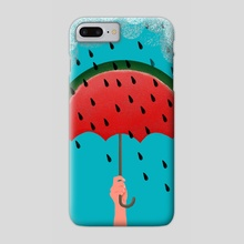 rain watermelon - Phone Case by Lucia Calfapietra