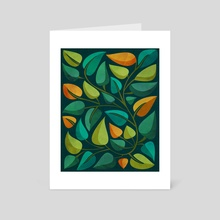 Retro Tropical Flora II - Art Card by Modern Tropical