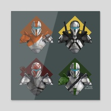Delta Squad - Acrylic by Jake Bartok