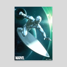 Silver Surfer - Canvas by Art Of Asher