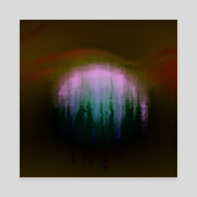 ghost  moon - Canvas by Kristian Leov
