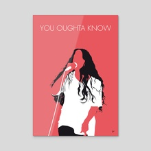 No152 MY Alanis Morissette Minimal Music poster - Acrylic by Chungkong