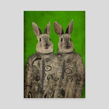 We are ready green - Canvas by Durro Art