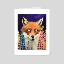 Foxglove - Art Card by Sam Hutt