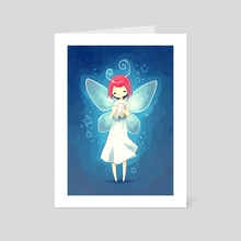 Tooth Fairy - Art Card by Indré Bankauskaité