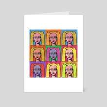 Girl with pigtails. - Art Card by Lubov Soltan