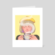 Mercedes Tea Time (modern au) - Art Card by Ysab Javier