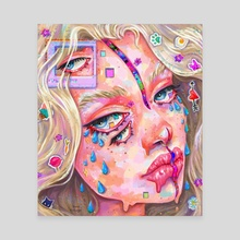 Glitch  - Canvas by Jane Koluga