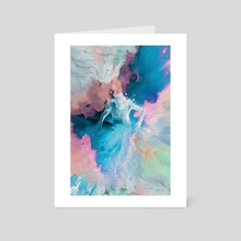 the stream of consciousness /1 - Art Card by Stefania Piredda