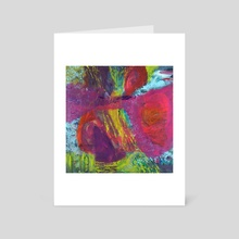 Butterfly Caught in a Windstorm - Art Card by Barbara Muth