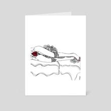 anthurium - Art Card by chisom onyishi