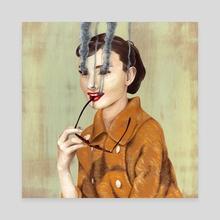 Audrey Hepburn - Canvas by Andrew Turner