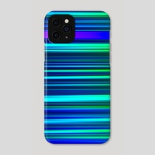 Eggplant LED Sculpture Light Painting - Phone Case by Alex Tonetti