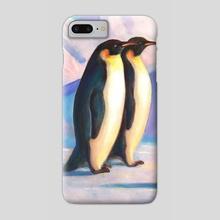 Happy Penguin Family - Phone Case by Svitozar Nenyuk
