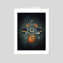 My Music Wall - Art Card by Bdesign