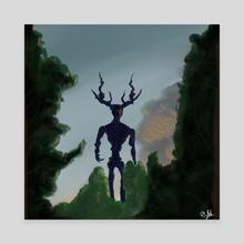 Forest Spirit - Canvas by Juan Hernandez