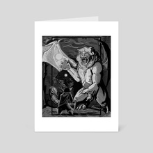 "Nott and the Manticore - Art Card by L.F. ""Björncrantz"" Danko"
