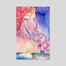Lady Sunset - Canvas by Vivian Z
