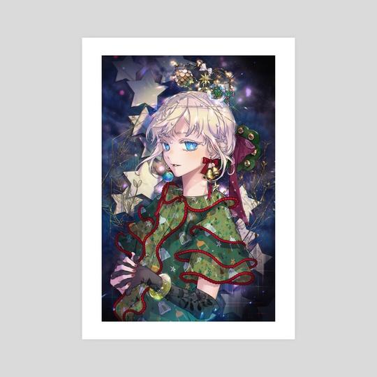 Christmas tree girl by Yooani