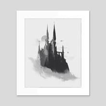 Castle - Acrylic by Reza Afshar
