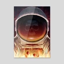 Space Reaper - Acrylic by Tom Velez