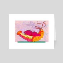 Boat Pose - Art Card by Kristin Reiber Harris