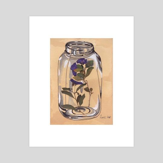 Real Flower, Fictional Jar: Potato Flower by Hax Shannon
