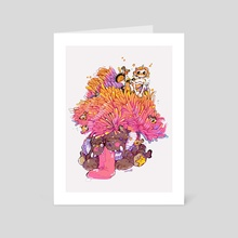 mermay 01 - clownfish - Art Card by Guinevere Reilly