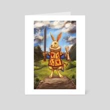 The White Rabbit - Page of Swords - Art Card by Eugene Smith