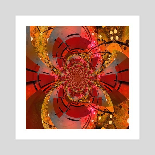 Geometric abstract. Mirrored fractal composition by Bruce Rolff