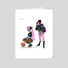 zombie girlz - Art Card by muna abdirahman