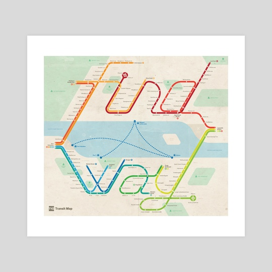 Find a Way Map by Michael Tyznik