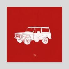 Bronco - Canvas by LeftHandedGraphic