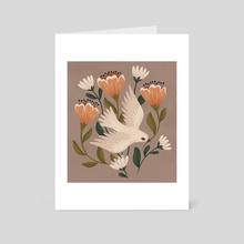 Weaving Dove - Art Card by Lauren Myers