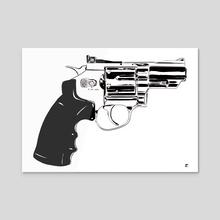 Gun #27 - Acrylic by Giuseppe Cristiano