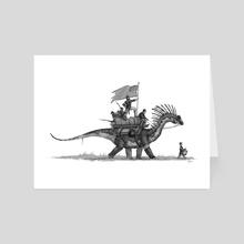 Civil war dino march - Art Card by Shaun Keenan