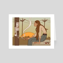 Morning Person - Art Card by Alison Hess
