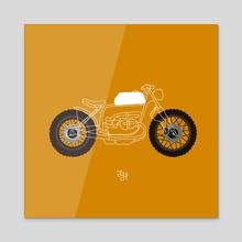 Minimal bike - Acrylic by LeftHandedGraphic