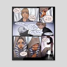 Ahsoka meets Luke - Acrylic by Jenna Haas