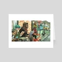Bus Stop - Art Card by Sam Bosma