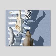 zebra crossing #1 - Acrylic by juli vasilieva
