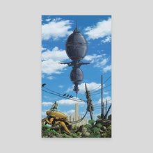 Crow City - Canvas by oliver bown