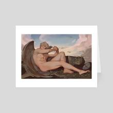 Fallen Angel Dio Brando - Jojo's Bizarre Adventure - Art Card by Dyalexa