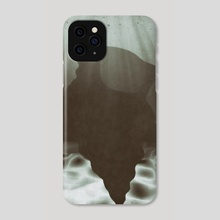 Shell - I - Black and White - Phone Case by Eric Sylvester