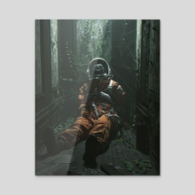 Nightmare VII - Acrylic by Leonardo Senas