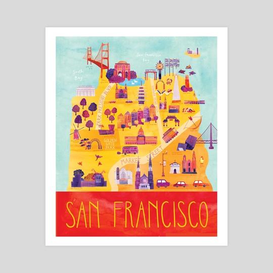 San Francisco Map by Marisa Seguin